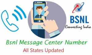 Bsnl Message Center Number All States Updated