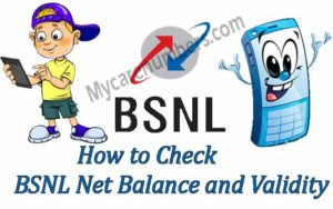 How to Check BSNL Net Balance and Validity