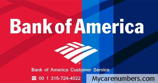 bank of america customer service number debit card