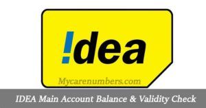 IDEA Main Account Balance & Validity Check | Ussd Codes