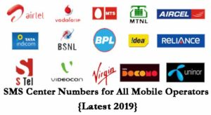 SMS Center Number for All Mobile Operators {Latest 2019}