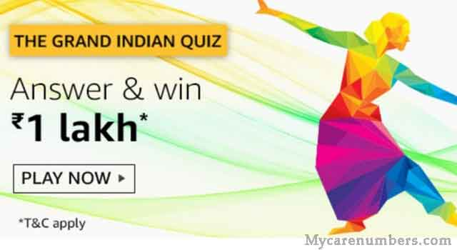Amazon Grand Indian Quiz Answers