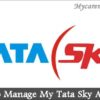TataSky Login – How to Manage My Tata Sky Account?